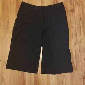 Black mid length shorts